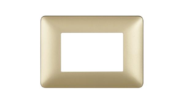 BTICINO AM4803MGL PLACCA MATIX 3 POSTI colore GL (Gold)